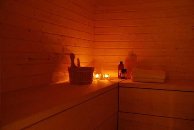 Sauna at Caprice Spa
