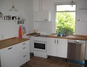 Modern kitchen with dishwasher.
